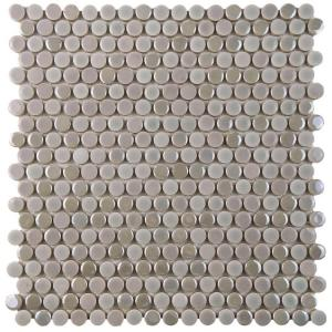 Merola Tile Galaxy Penny Round Ash 11 1 4 In X 3 9 Mm Porcelain Mosaic Wshgpras The Home Depot