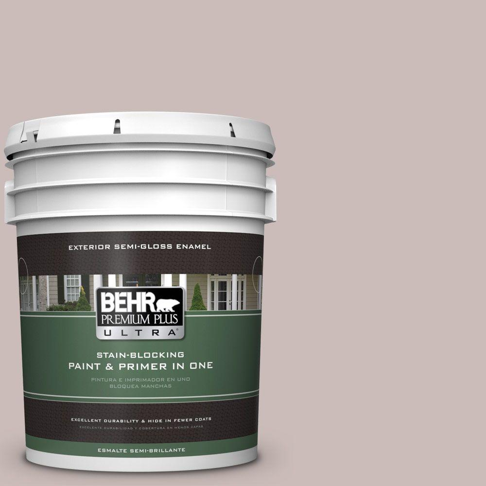 5-gal. #750A-3 Vintage Taupe Semi-Gloss Enamel Exterior Paint