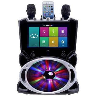 Complete Wi-Fi Bluetooth Karaoke Machine with 9 in  Touch Screen, Recording  and Bluetooth Speaker