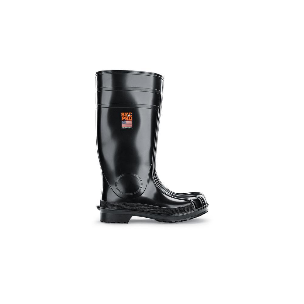 Guardian IV Unisex Size 4M Black PVC Slip-Resistant Work Boot