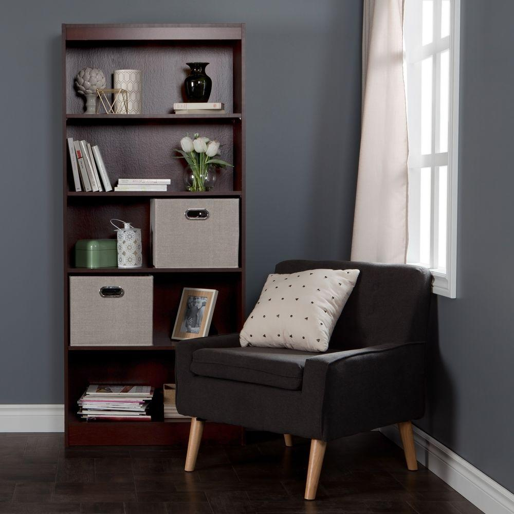South Shore Axess Royal Cherry Open Bookcase