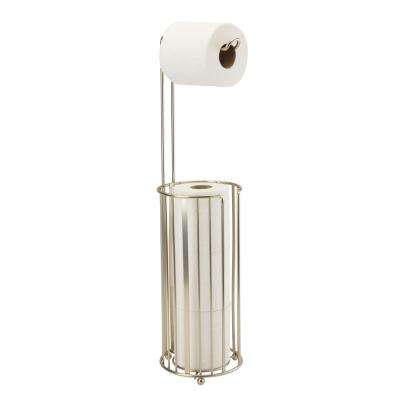 Awning Stripe Toilet Paper Holder and Reserve in Satin Nickel