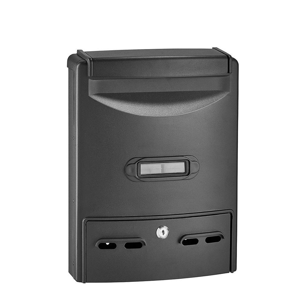 Black Steel Classic Retro Mailbox