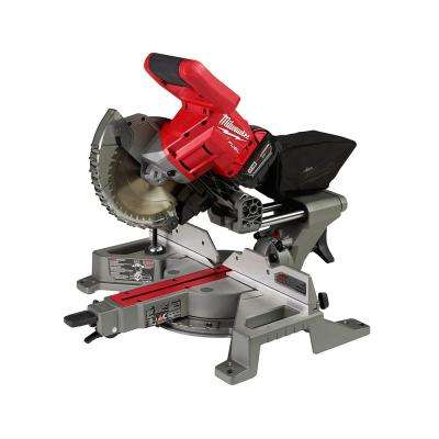 M18 FUEL 18-Volt Lithium-Ion Brushless Cordless 7-1/4 in. Dual Bevel Sliding Compound Miter Saw Kit W/(1) 5.0Ah Battery