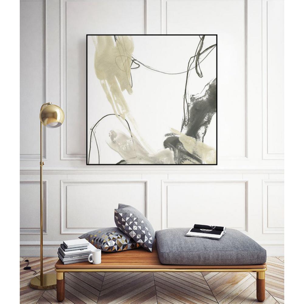 """30 in. x 30 in. """"Monochrome Momentum II"""" by June Erica Vess Framed Wall Art"""