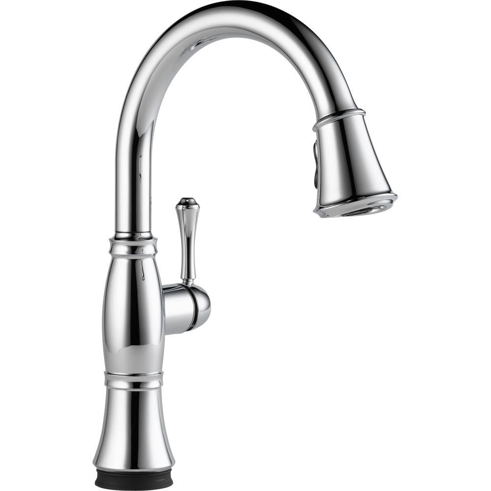 Delta Cassidy Touch Single-Handle Pull-Down Sprayer Kitchen Faucet ...
