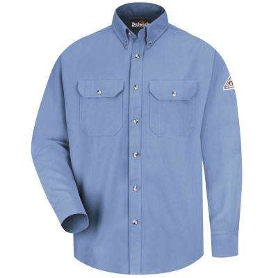 CoolTouch Men's X-Large (Tall) Light Blue Dress Uniform Shirt