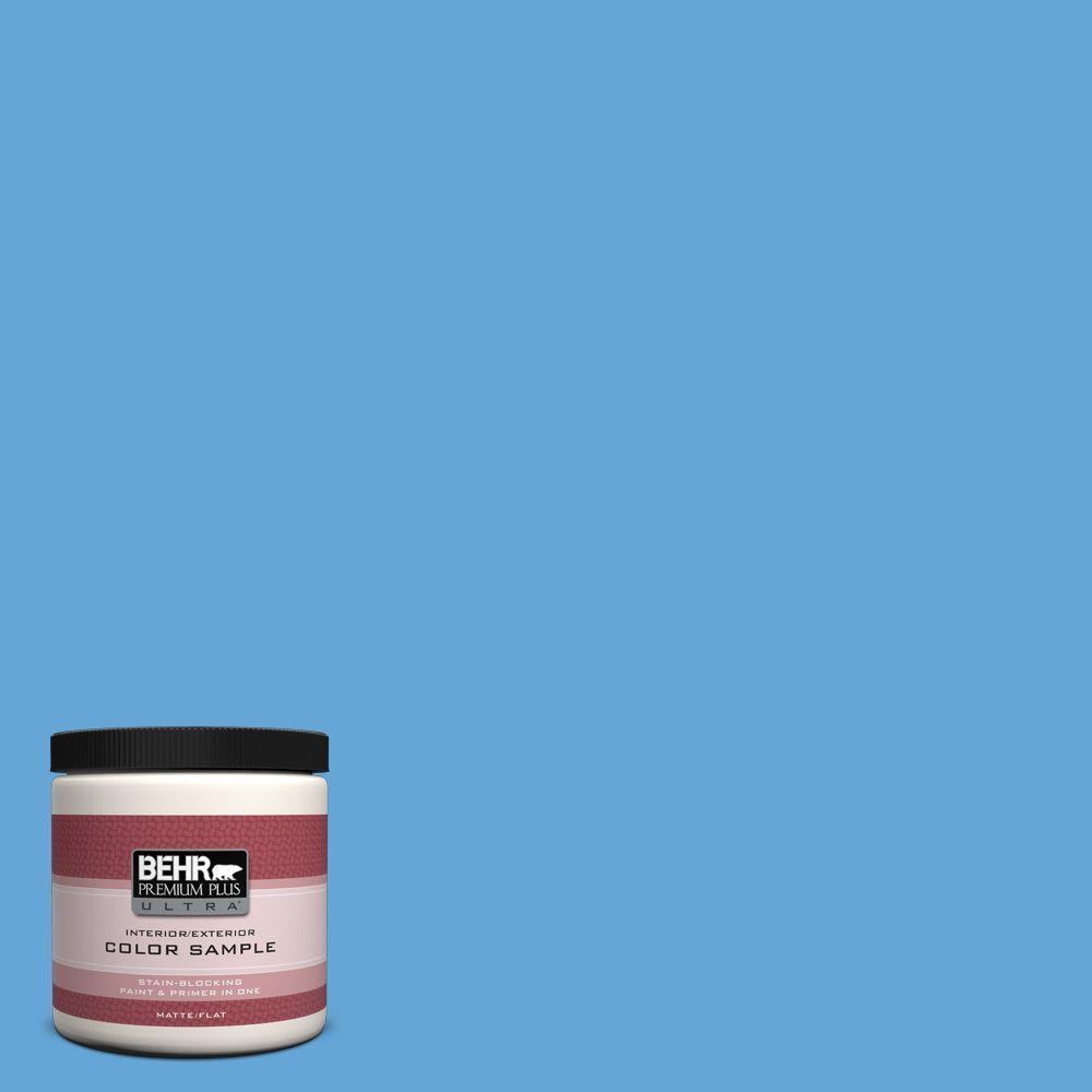 BEHR Premium Plus Ultra 8 oz. #560B-5 Ocean Tropic Interior/Exterior Paint Sample