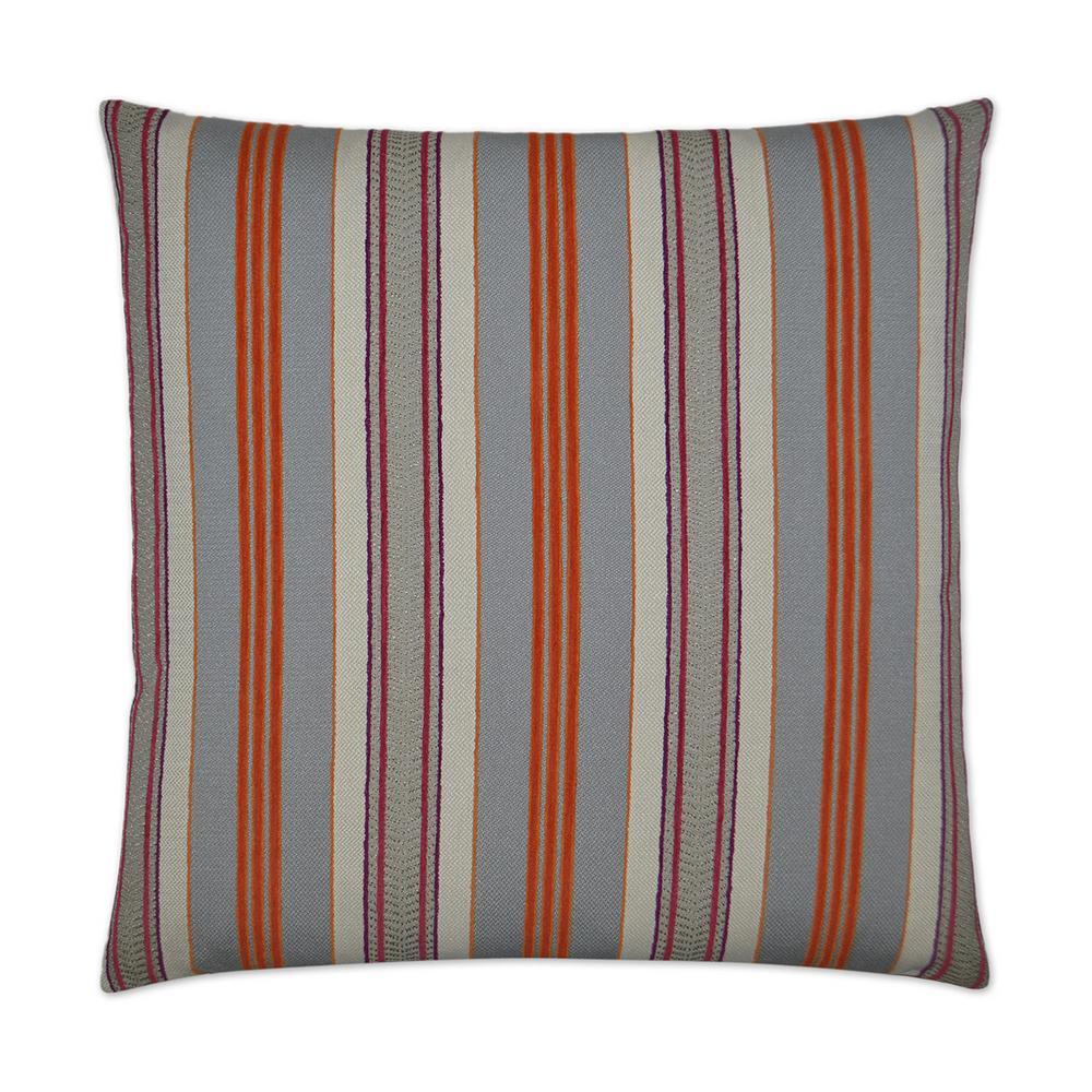 Hambo Orange Feather Down 24 in. x 24 in. Standard Decorative Throw Pillow
