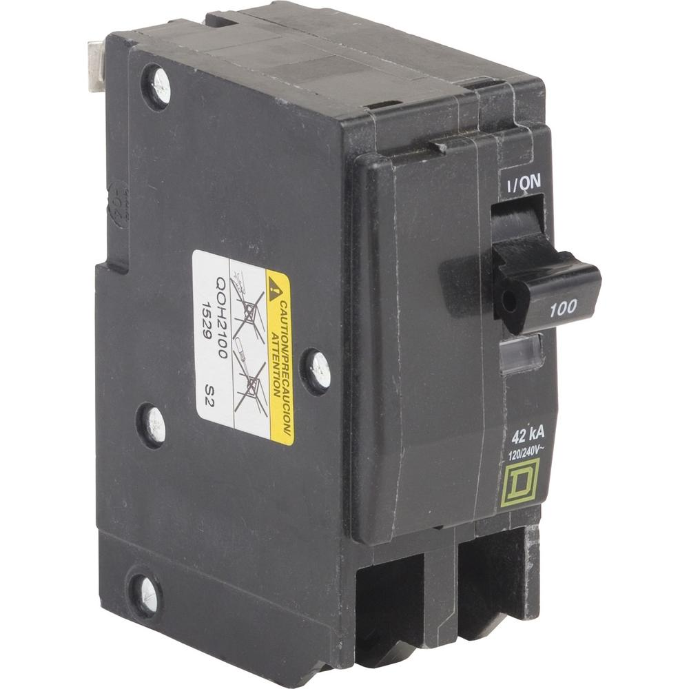 2 P0LE 100 amp 120//240V Square D QO Bolt-On circuit breaker