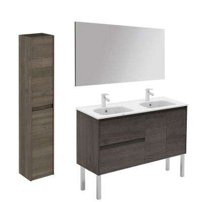 47.5 in. W x 18.1 in. D x 32.9 in. H Bathroom Vanity in Samara Ash with Mirror and Column