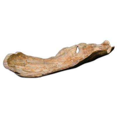 4.75 in. H Decorative Bowl in Natural Wood