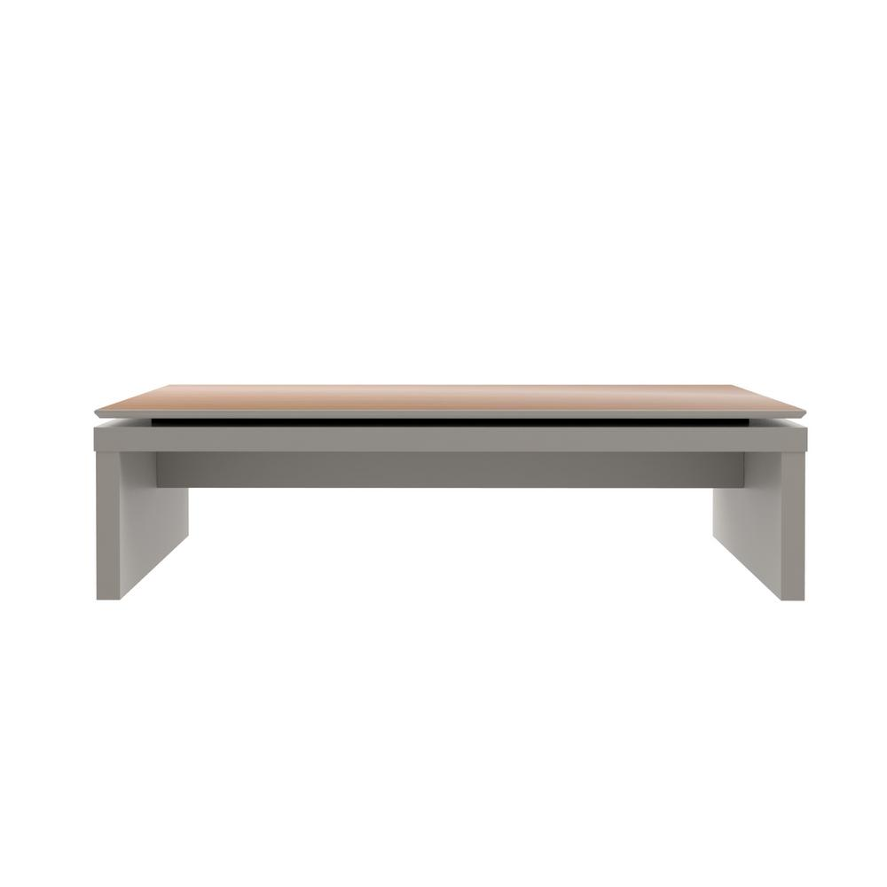 Coffee Table Comfort Furniture: Manhattan Comfort Lincoln Off-White And Maple Cream