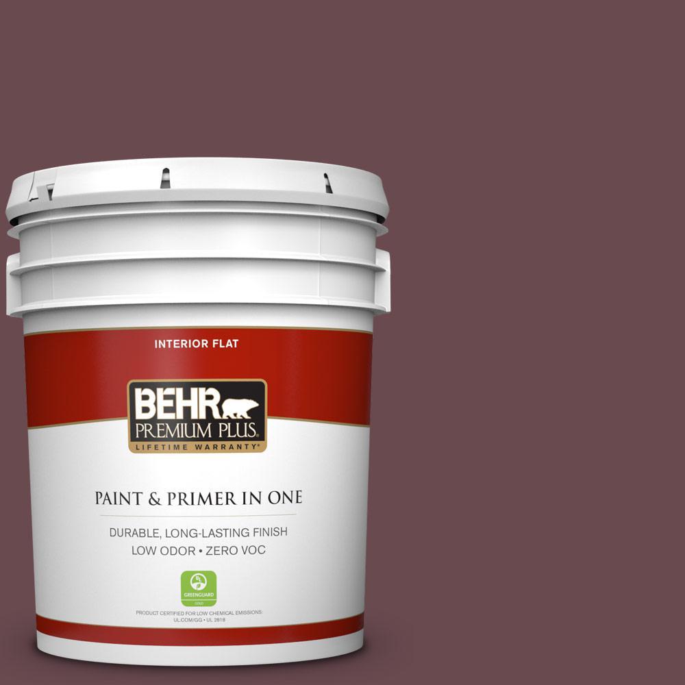5 gal. #130F-7 Semi Sweet Zero VOC Flat Interior Paint