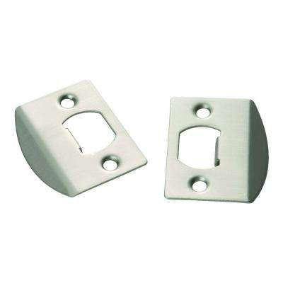 Satin Nickel Full Lip Door Strikes (2-Pack)