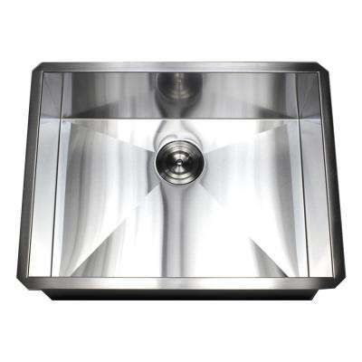 Undermount 16-Gauge Stainless Steel 26 in. x 20 in. x 10 in. Deep Single Bowl Zero Radius Kitchen Sink
