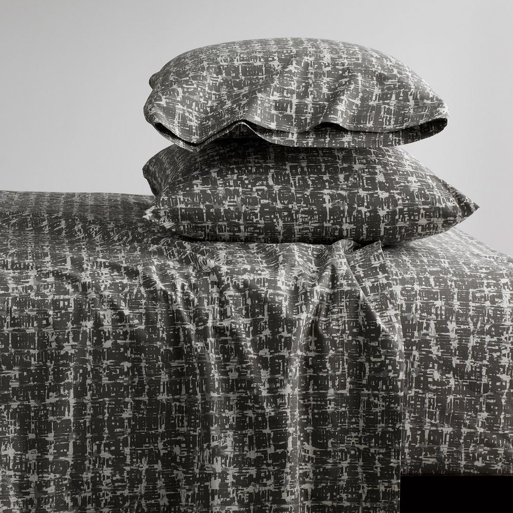 Brexton 3-Piece 200-Thread Count Cotton Percale Twin XL Sheet Set in Bark