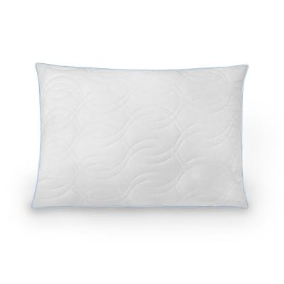 Quilted Fiber and Gel-Infused Memory Foam Core Jumbo Pillow
