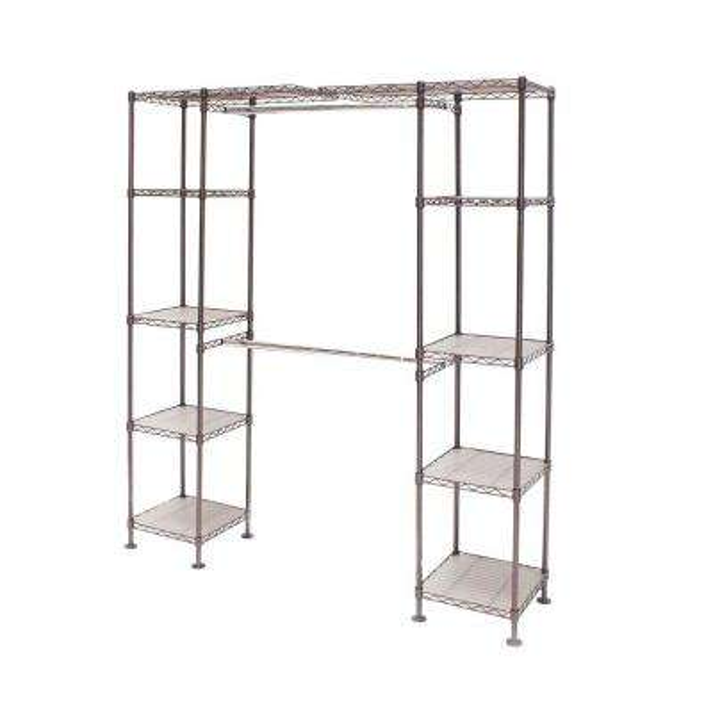 Satin Bronze Expandable Closet Organizer System