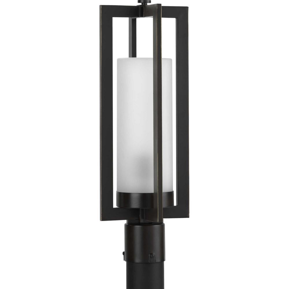 Janssen Line Voltage 1-Light Black 4x4 Deck Post Light Post Lantern