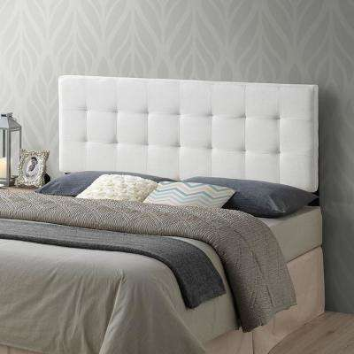 Guilia Square-Stitched Headboard, Queen Size in Ivory