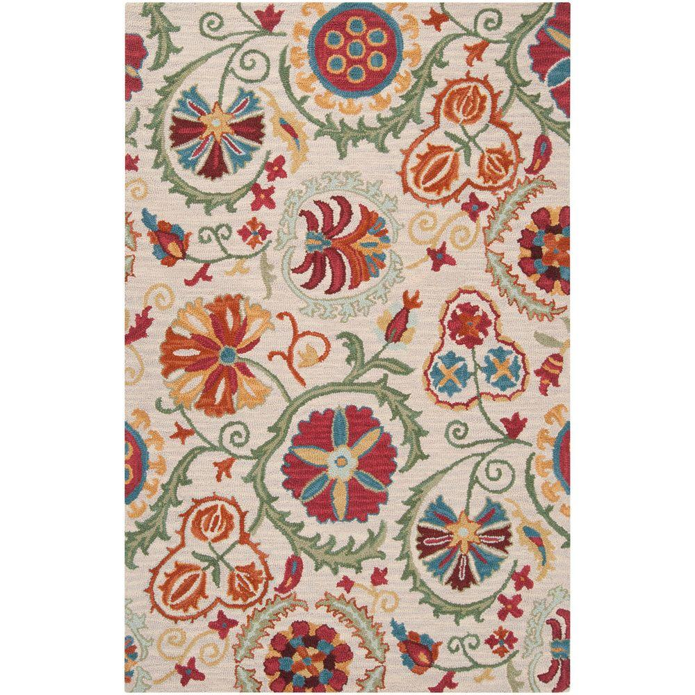 Artistic Weavers Pozzuoli Antique White 5 ft. x 8 ft. Area Rug