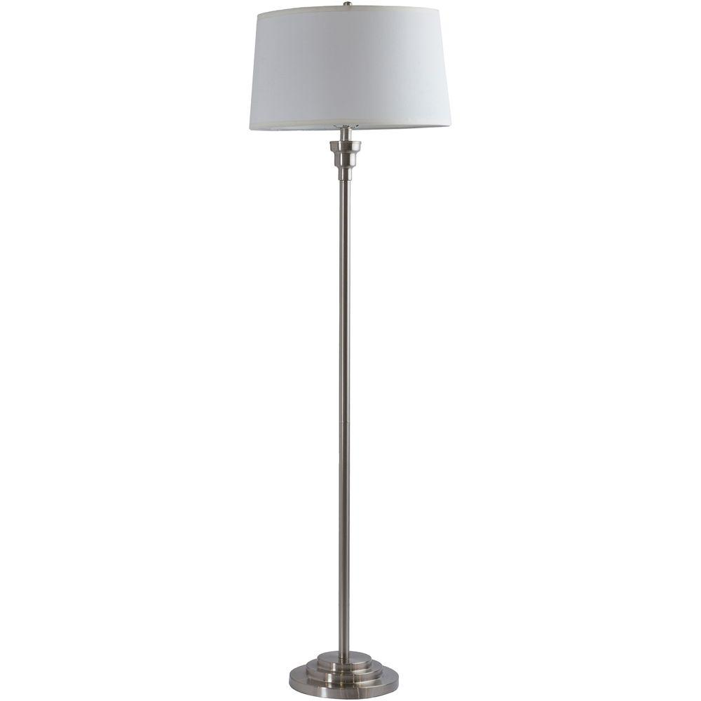 Anastase 61 in. Brushed Nickel Indoor Floor Lamp
