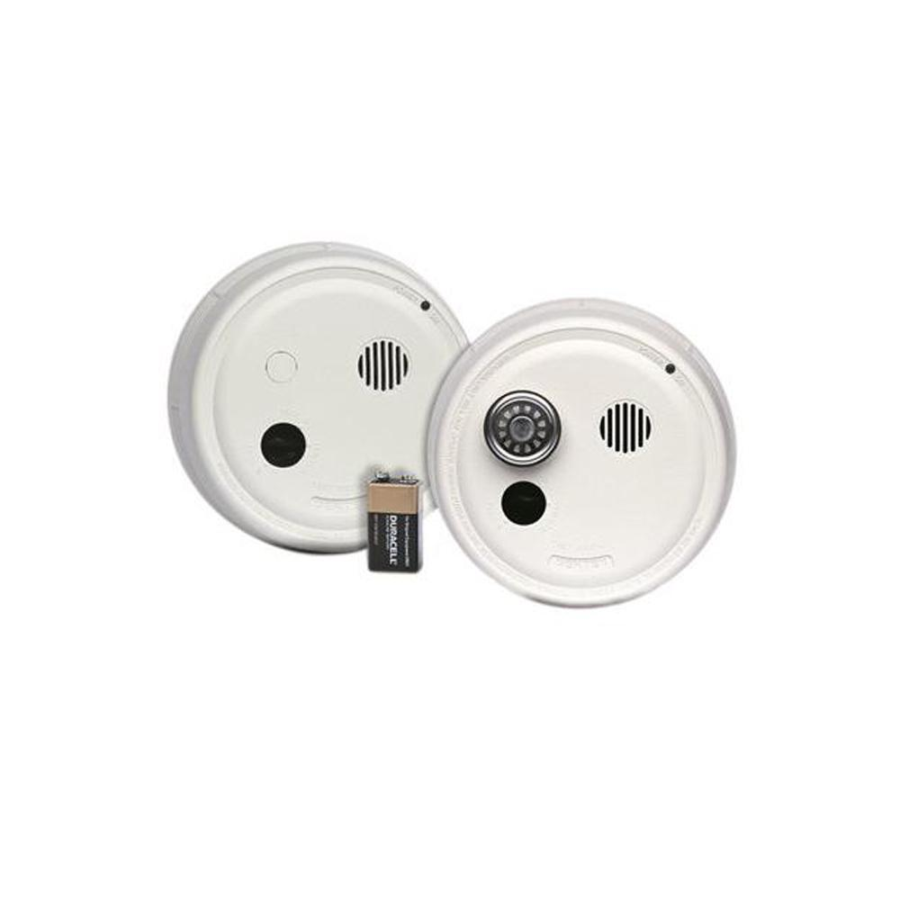 Interconnected Smoke Detectors Fire Safety The Home Depot Detector Wiring Photoelectric Alarm Hardwired With Battery Backup And Isolated Heat