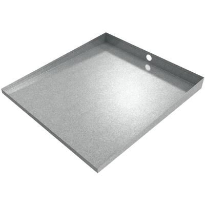 27 in x 25 in x 2.5 in Compact Front Load Drain Pan in Galvanized
