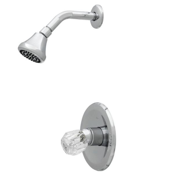 Single-Handle 1-Spray Shower Faucet Only in Chrome (Valve Included)
