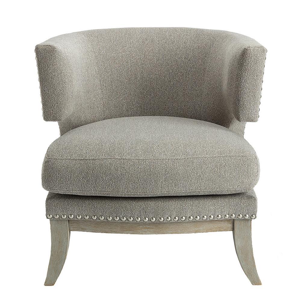 Aubrey Grey Accent Chair