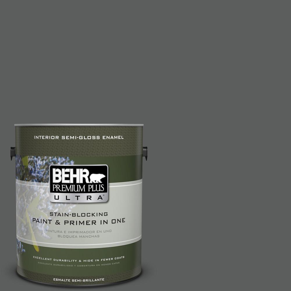 1 gal. #T17-10 Shades On Semi-Gloss Enamel Interior Paint