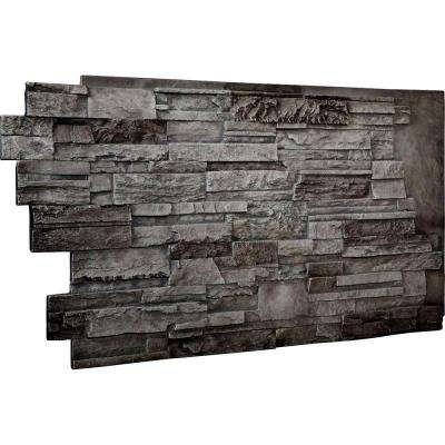 1-1/2 in. x 48 in. x 25 in. Slate Urethane Dry Stack Stone Wall Panel
