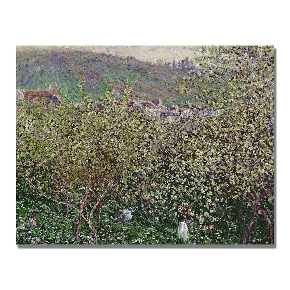 Trademark Fine Art 35 in. x 47 in. Fruit Pickers Canvas Art