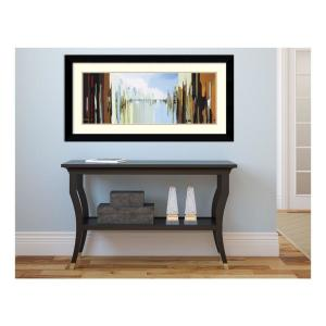 Amanti Art 38 inch x 20 inch Outer Size 'Urban Abstract No. 242' by Gregory Lang Framed Art Print by Amanti Art