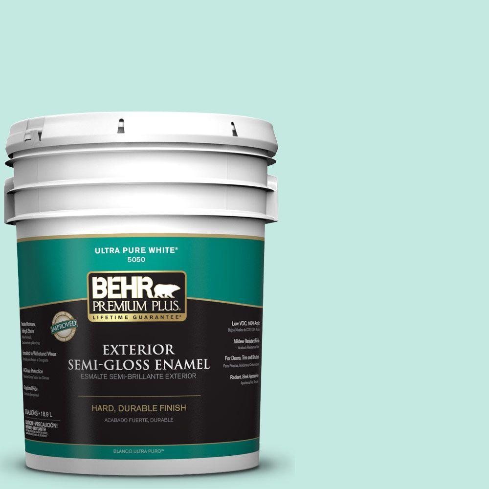 5-gal. #P440-2 Clear Aqua Semi-Gloss Enamel Exterior Paint