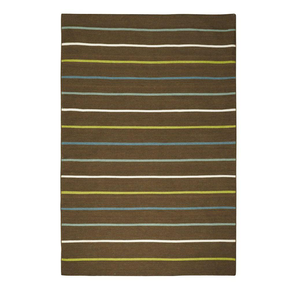 Home Decorators Collection Rainbow Brown 5 ft. x 7 ft. 6 in. Area Rug