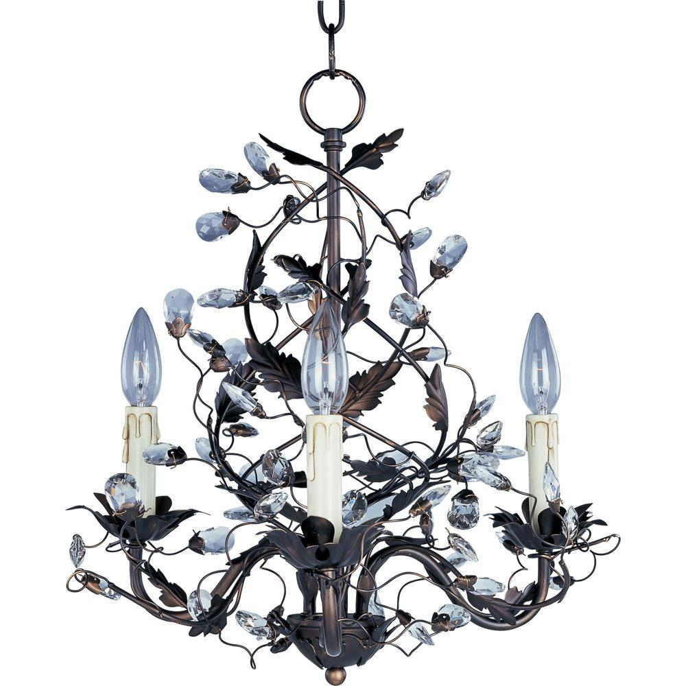 Elegante 3-Light Oil-Rubbed Bronze Mini Chandelier