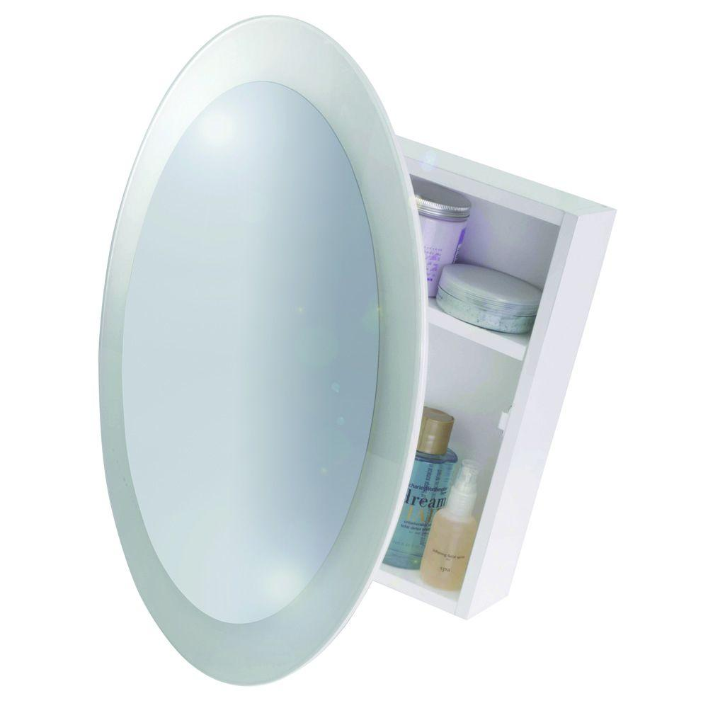 Croydex Saturn 20.66 in. H x 20.66 in. W x 4.13 in. D Wood Cabinet Surface Mount Only in White