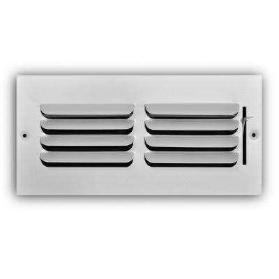 10 in. x 4 in. 1-Way Fixed Curved Blade Wall/Ceiling Register