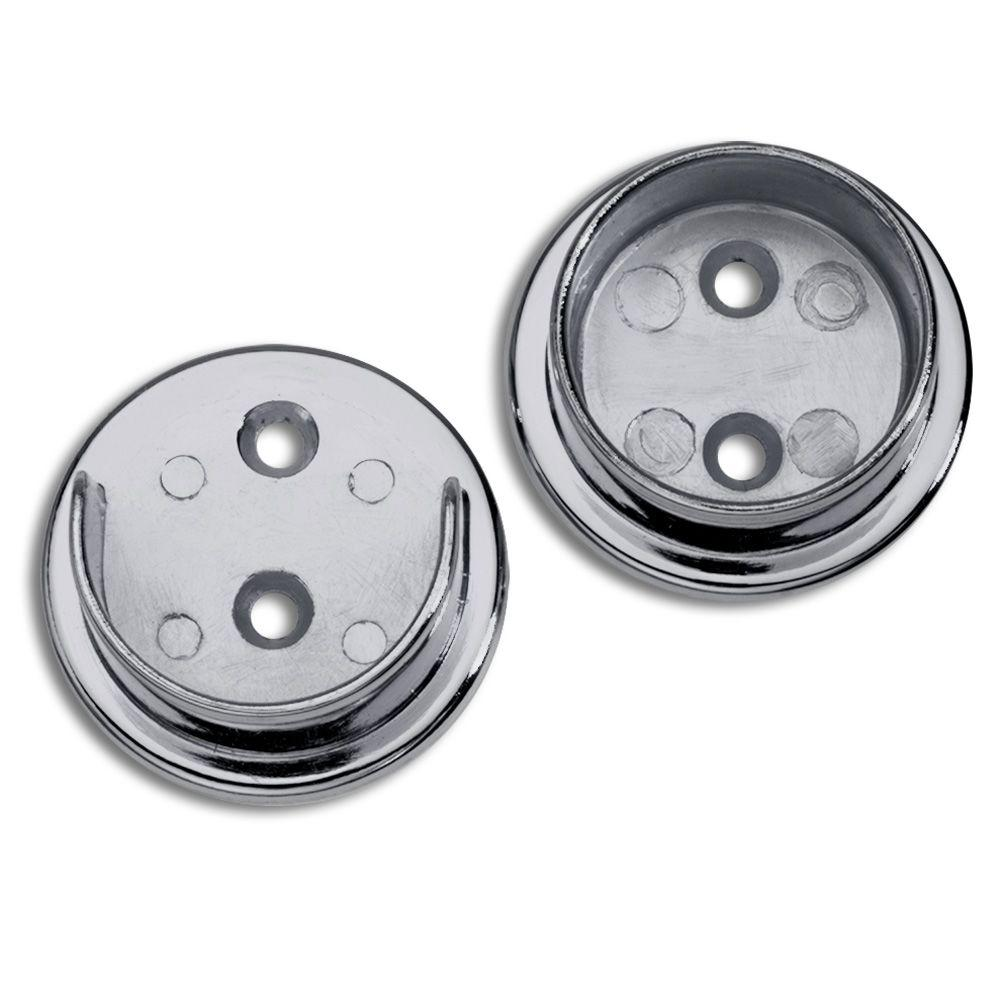 Lido Designs 1 1 2 In Polished Chrome Heavy Duty Closet Rod Flange Set Pair Lb 10 506set