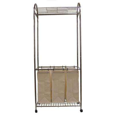 30 in. Chrome Laundry Center