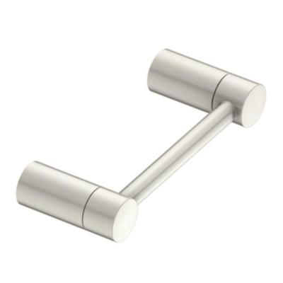 Align Pivoting Double Post Toilet Paper Holder in Brushed Nickel