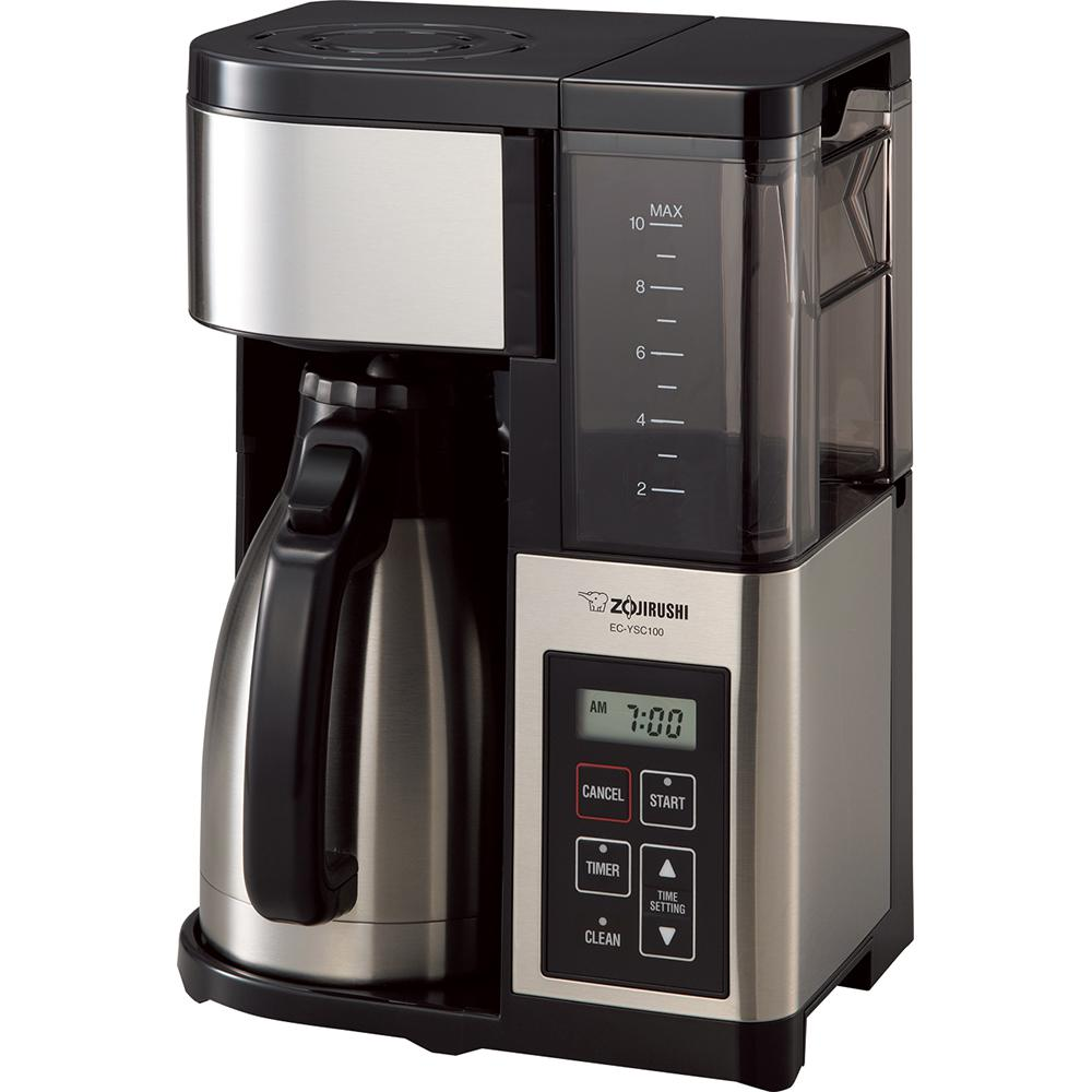 Fresh Brew Plus 10-Cup Coffee Maker, Stainless Steel With Black Trim