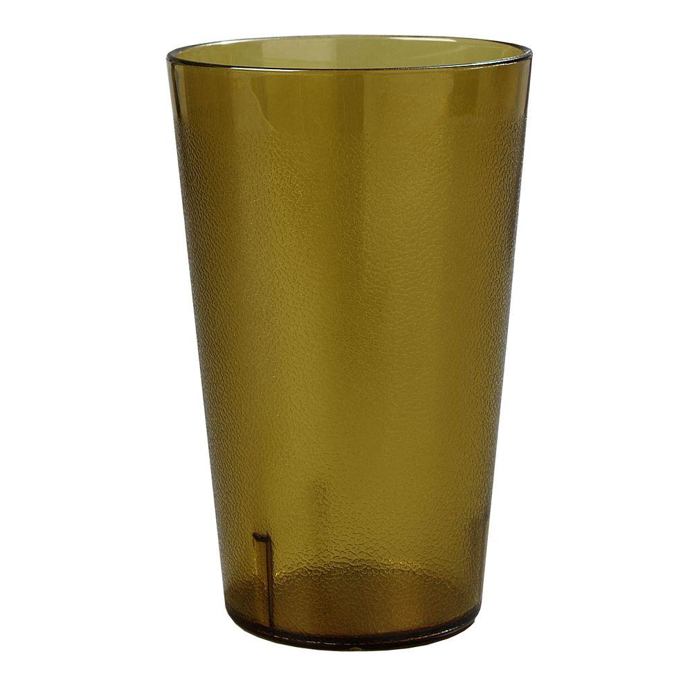 Carlisle 32 oz. SAN Plastic Stackable Tumbler in Amber (Case of 24)