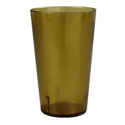 32 oz. SAN Plastic Stackable Tumbler in Amber (Case of 24)