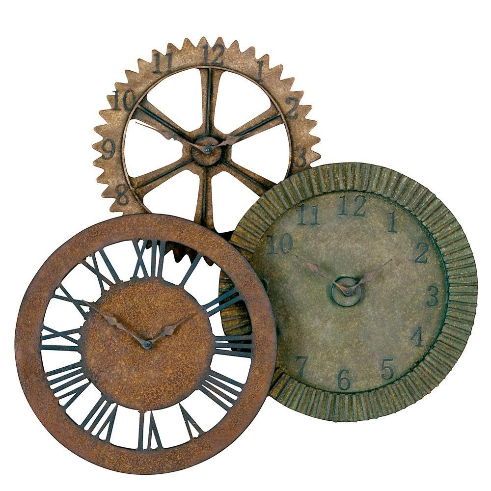 Global Direct 33 in. x 35 in. Gears Wall Clock-DISCONTINUED