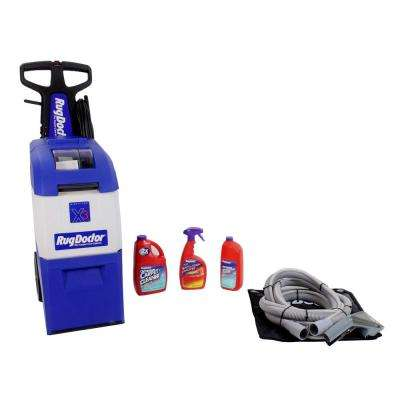 Upright X3 Carpet Cleaner with Upholstery Attachment and Solution