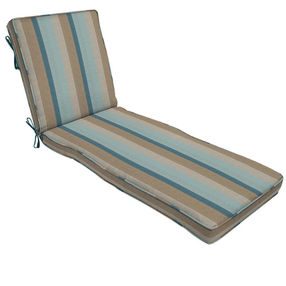 Home Decorators Collection 22 x 74 Sunbrella Gateway Mist Outdoor Chaise Lounge Cushion