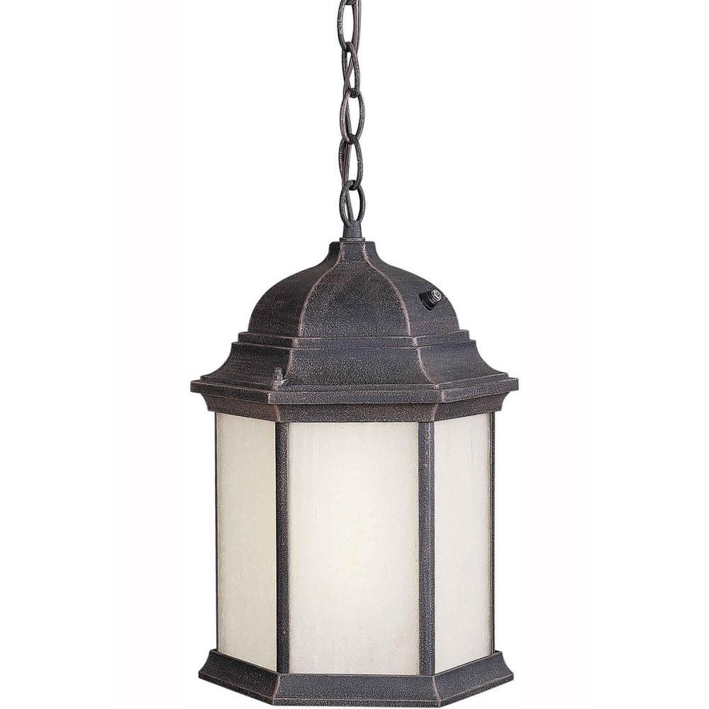 Illumine Burton 1 Light Painted Rust Outdoor Halogen Pendant-DISCONTINUED